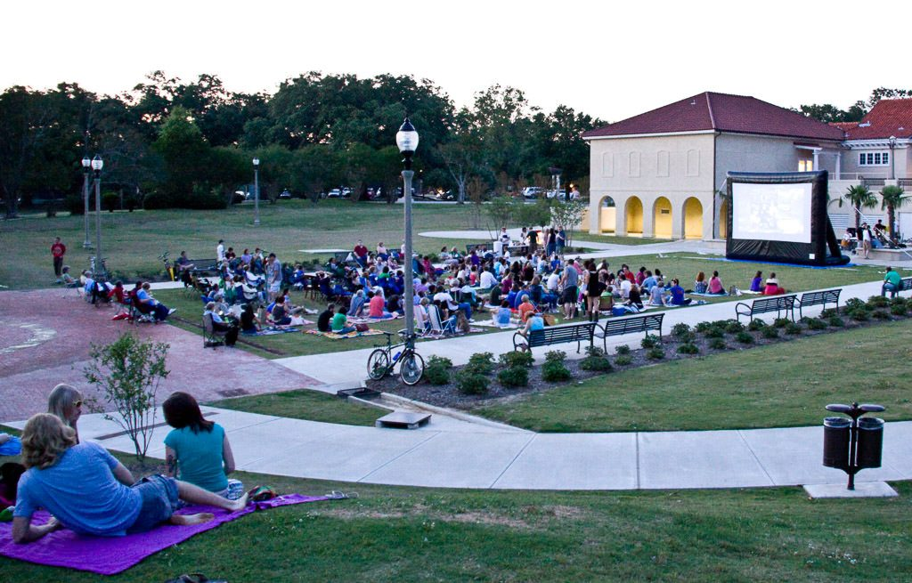 Baton Rouge, Loisiana outdoor movie night