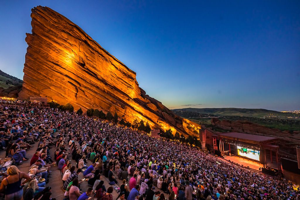 film on the rocks, red rocks amphitheatre, denver,co