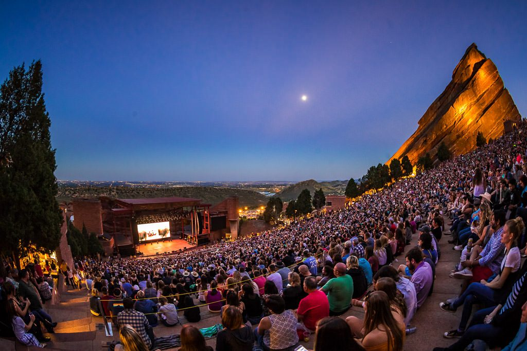 film on the rocks, red rocks amphitheatre, denver,co | outdoor movie night