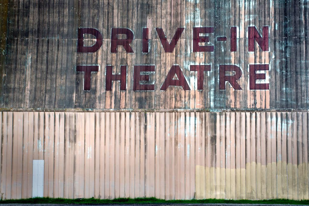 drive in theatre sign