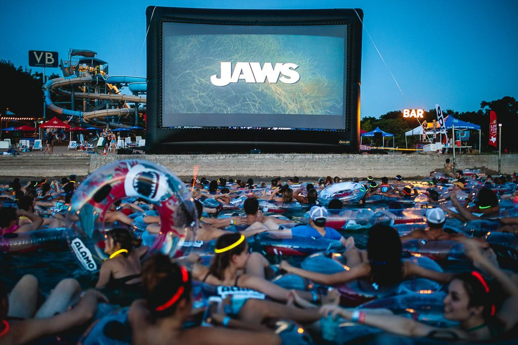 JAWS on the water - outdoor movie night, Texas